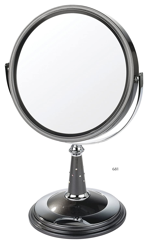 Danielle Miroir sur pied grossissant x 10 20 cm (Perle noire/chrome) 0681
