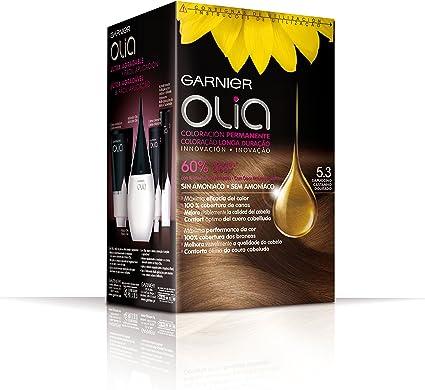Garnier Olia - Coloración Permanente sin Amoniaco, con Aceites Florales de Origen Natural - Tono 5.3 Capuccino