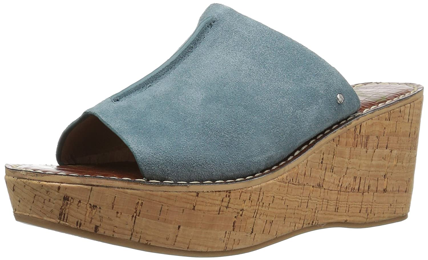 bluee shadow suede Sam Edelman Women's Ranger Wedge Sandal