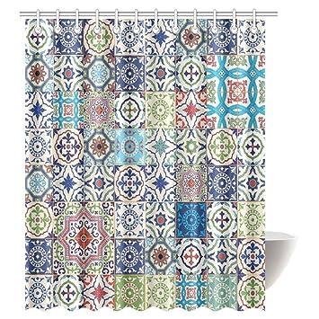 Marokkanische Decor Vorhang Für Die Dusche Patchwork Muster Von - Marokkanische fliesen kaufen