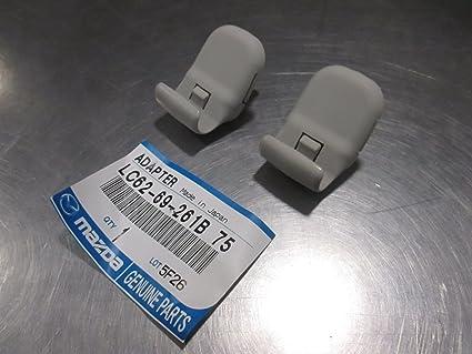 Amazon.com  Mazda 2 3 5 CX-9 CX-7 New OEM Gray sun visor adapter ... 0d66e551290