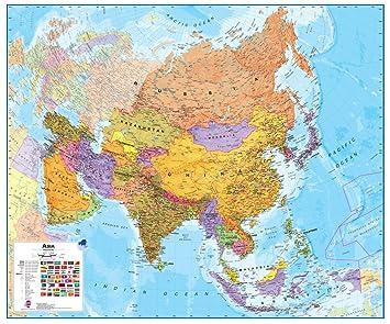 Amazoncom Maps International Asia Wall Map Laminated Toys Games - Amazon maps