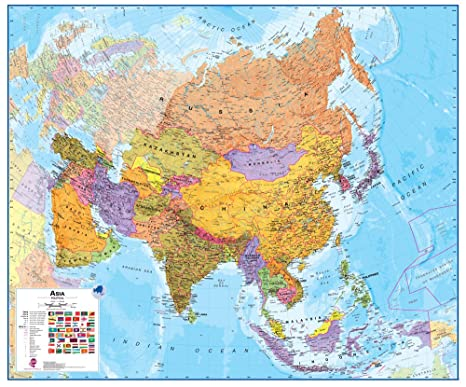Amazon.com: Maps International Large Asia Wall Map (political ...