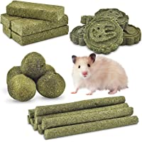 ERKOON 25PCS Bunny Chew Toys for Molar Grinding Natural Timothy Hay Biscuits Chew Sticks Treat Toy for Rabbits…
