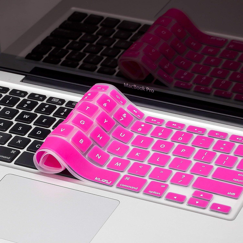 Kuzy - MacBook Keyboard Cover for Older Version MacBook Pro 13, 15, 17 inch  and MacBook Air 13 inch, iMac Wireless Keyboard, Apple Computer