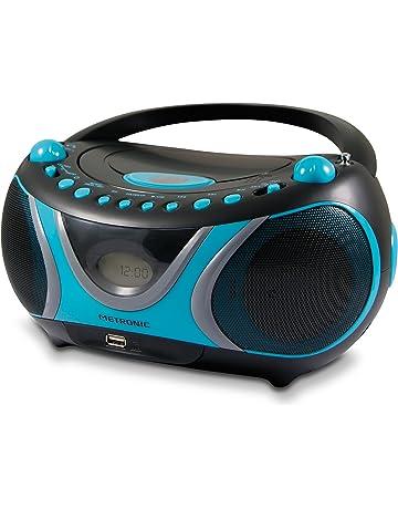 Metronic 477118 Boombox Sportman - Minicadena (reproductor de CD/MP3, radio, USB