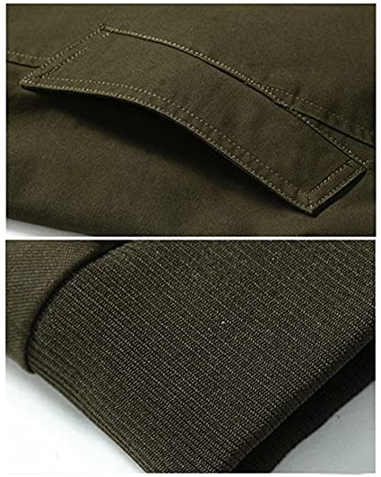 Amazon.com: uygmxdnxg Chamarra Militar Del Ejército de Primavera Otoño Casual Clásico de Algodón Para Hombre Parka Trench Coat Outerwear: Clothing