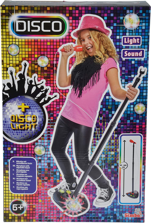 Simba My Musik World Disco Standmikrofon Karaoke Mikrofon Spielzeug Kunststoff