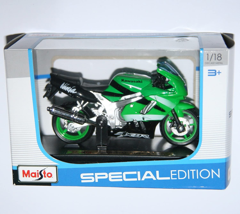 Amazon.com: Maisto Kawasaki Ninja Zx-9R Green Motorcycle Die ...