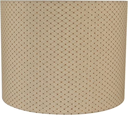 Aspen Creative 31038 Transitional Drum Cylinder Shape Spider Construction Lamp Shade in Beige, 14 Wide 14 x 14 x 11