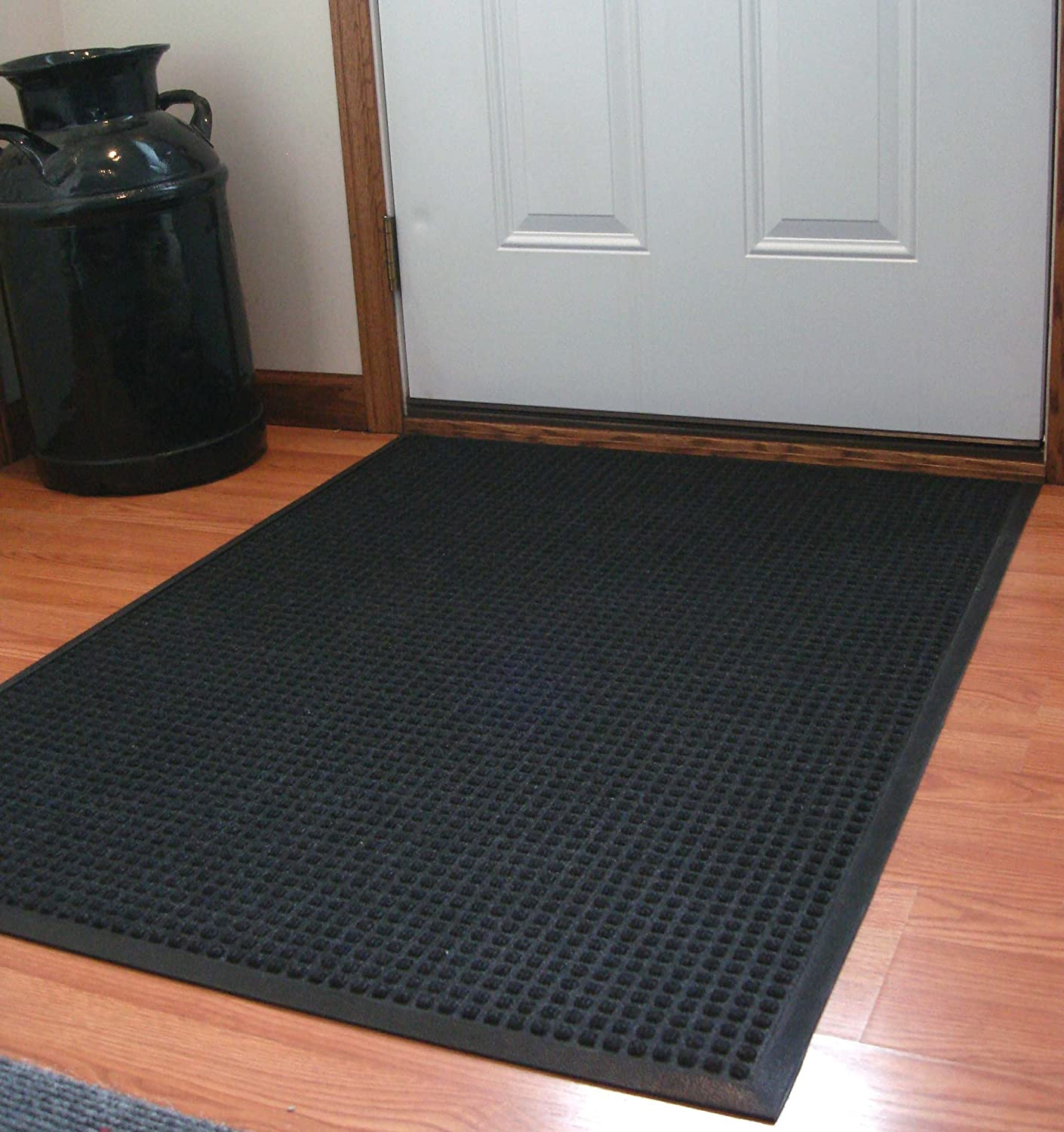 Brown Durable Stop-N-Dry Indoor Rubber Backed Carpet Entrance Mat 3 x 4