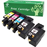 GREENSKY 5Packs(2 x Black,1 x Cyan/Yellow/Magenta) Replacement Dell 1250c 1350cnw 1355cn High Yield Value Set Fit for Dell 1250c 1350cnw 1355cn 1355cnw C1760nw C1765nf C1765nfw Color Printers