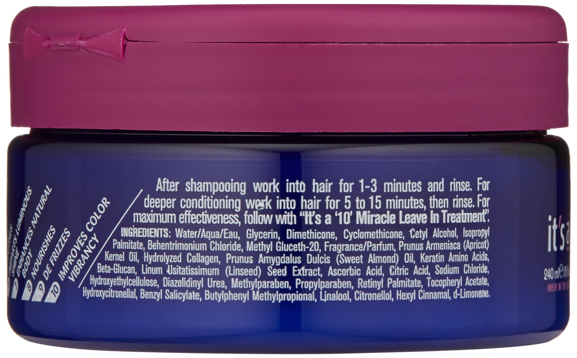 It's a 10 Haircare Miracle Hair Mask, 8 fl. oz. by It's a 10 Haircare (Image #3)