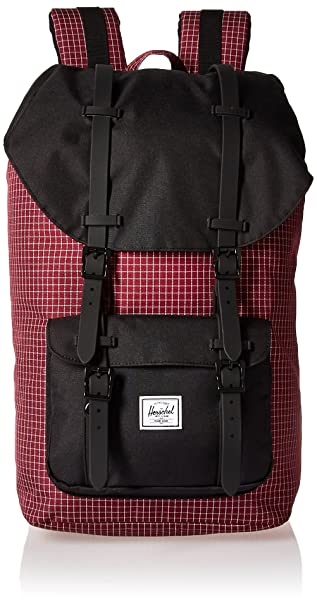 Herschel Little America Windsor Wine Grid/Black/Black Rubber: Amazon.es: Ropa y accesorios