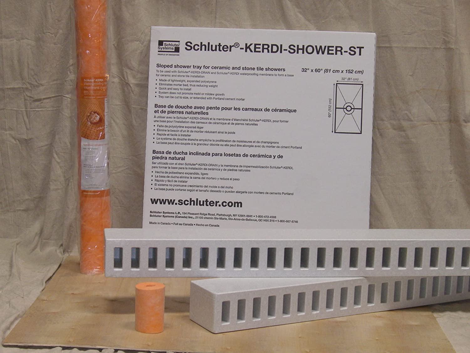schluter kerdi shower kitcenter drain location shower kits amazoncom