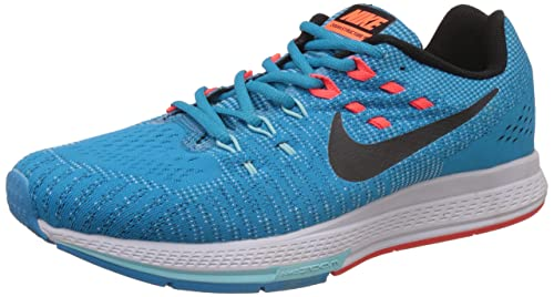 buy online 9b01a 5a2e5 Image Unavailable. Image not available for. Colour  Nike Men s Air Zoom  Structure 20 Green Running Shoes ...