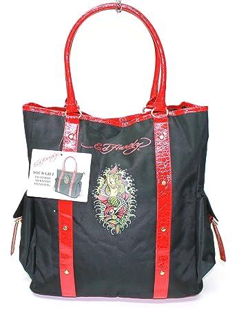 Amazon.com   Ed Hardy Womens Mermaid Large Handbag  Tote Bag   Cosmetic  Tote Bags   Beauty 4228a6b8308bd