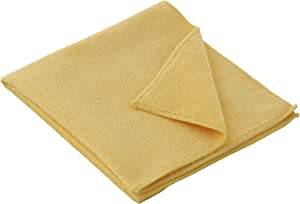 "Superio Microfiber Cleaning Cloth 16"" x 16"" Yellow Washing Towel for Home, Kitchen, Auto, Window and Office/No Detergents Needed, Scratch & Streak Free, Miracle Clean, Ultra-Fast Drying"