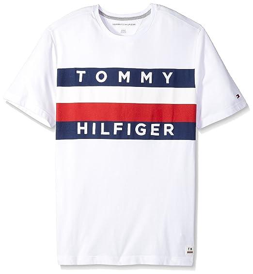 c00e0a9357 Tommy Hilfiger Men's Big and Tall Flag Logo T Shirt