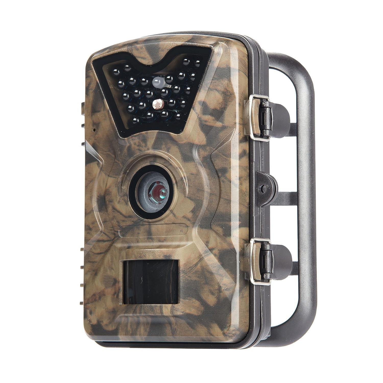 Hiram Wildkamera Trail Camera Fotofalle 12MP 1080P Jagdkamera 20m Infrarote Nachtsicht Wasserdichte IP66 Überwachungskamera mit 2.4 LCD Display