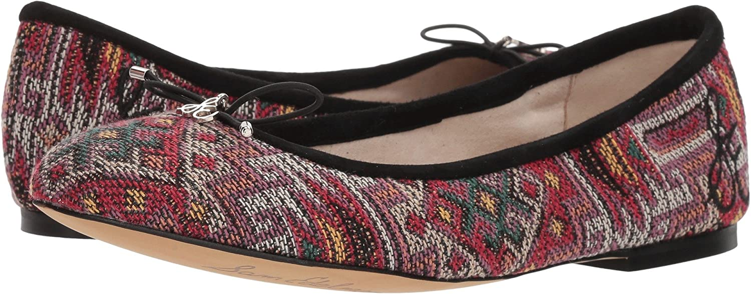 Sam Edelman Women's Felicia Ballet Flat B076JJH582 6 W US|Red Multi Navajo Weave Fabric