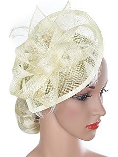 Vijiv Women Vintage Derby Fascinator Hat Pillbox Headband Feather Cocktail  Tea Party ca979a42531