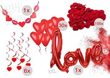 XXL Mega Herzluftballon Luftballon Herz Herzluftballons Heart Rot 45 cm Hochzeit