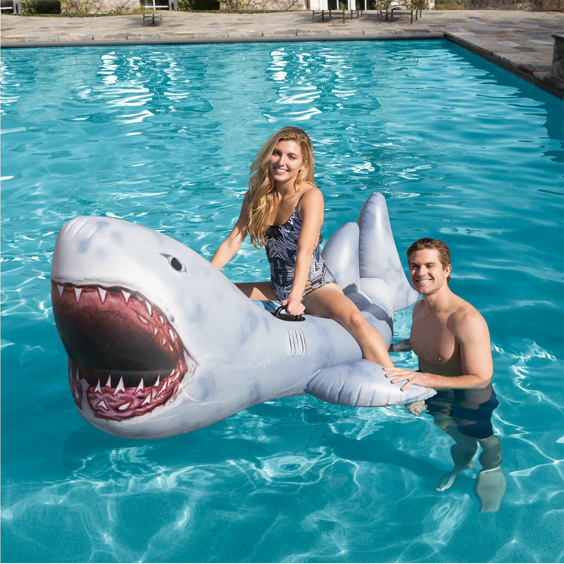 H2OGo Discovery Shark Week Pool Lounge 30th Anniversary Edition - Great White Shark