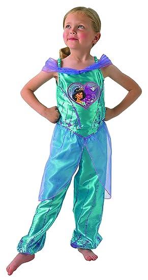 Jasmine - Loveheart Vestido - Disney Princess - Chidlrens Disfraz ...