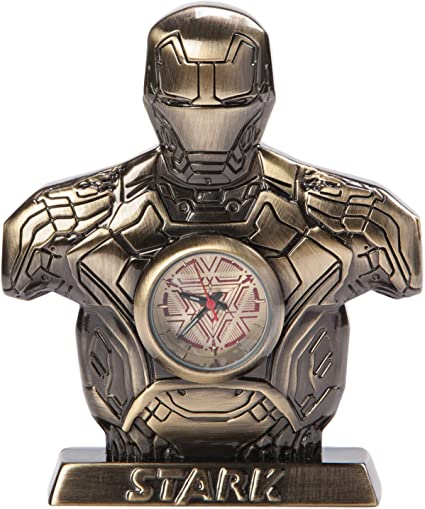 Marvel Avengers Age of Ultron Silver Iron Man Mark 43 Desk Clock