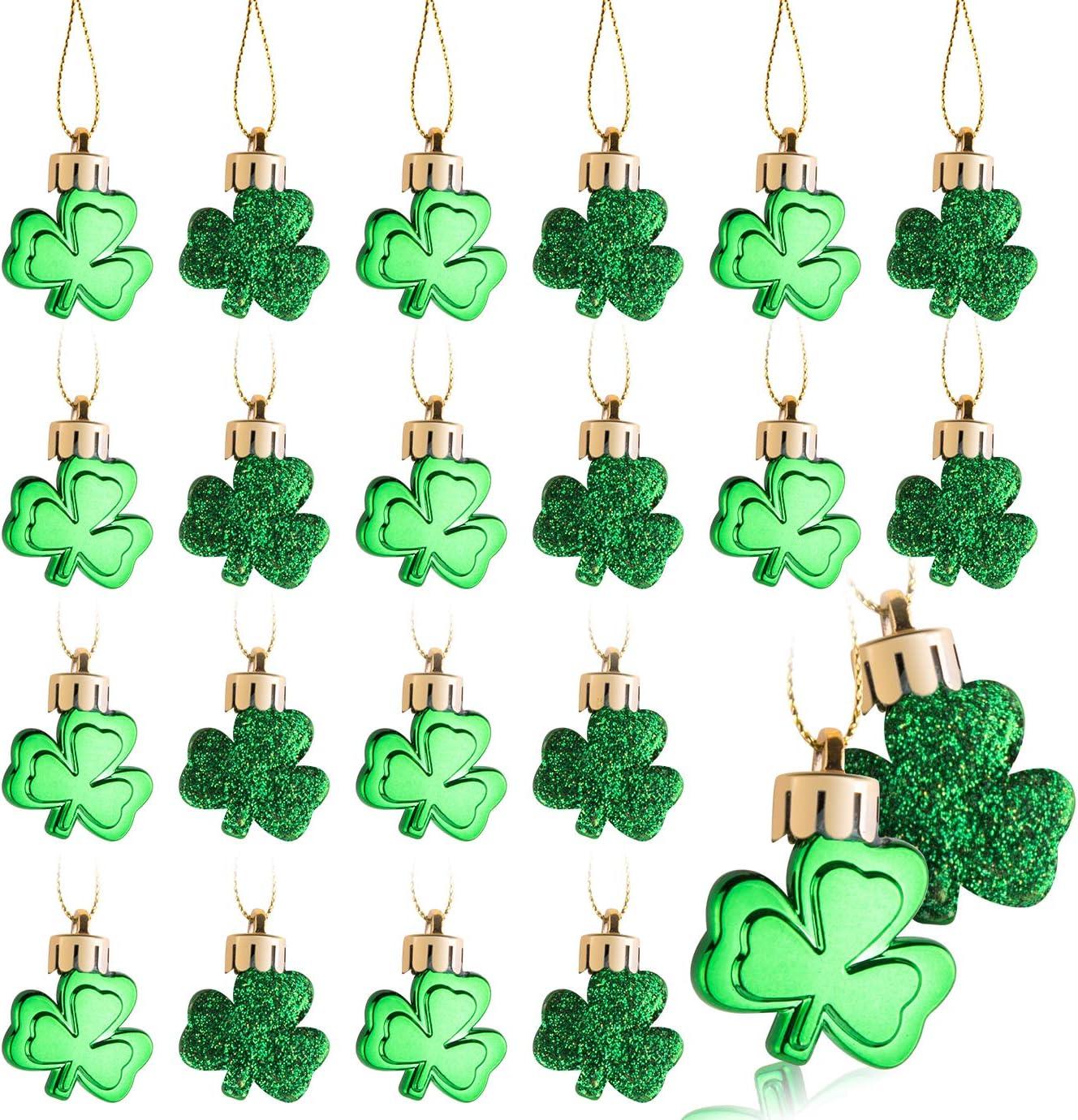 Patricks Day Decorations Gift HevenJx Shamrock St Patricks Day Ornaments Ceramic Hanging Ornaments Pendant for St