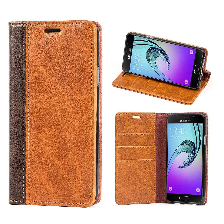 Mulbess Cover Galaxy A3 (2016) Custodia In Pelle Con Supporto per Samsung Galaxy A3 (2016) Custodia Pelle, Marrone