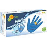 BeeSure BE1115 Nitrile Powder Free Exam Gloves, X-Small (Pack of 100)