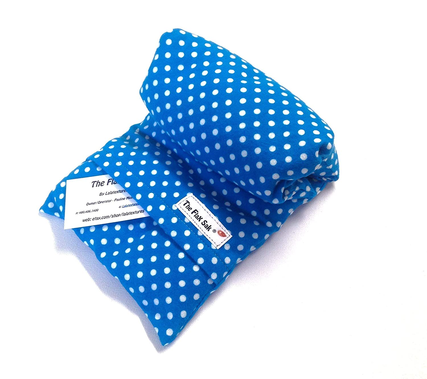 Unscented Large Microwave Heating Pad by Flax Sak Hot//Cold Pack with Removable//Washable Cover Succulants.