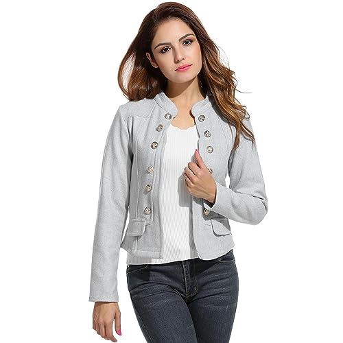 Women S Crop Jackets Amazon Com