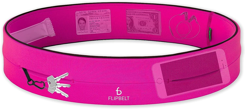 Unisex Adulto FlipBelt Zipper Cintur/ón multibolsillo con Cremallera XL Negro