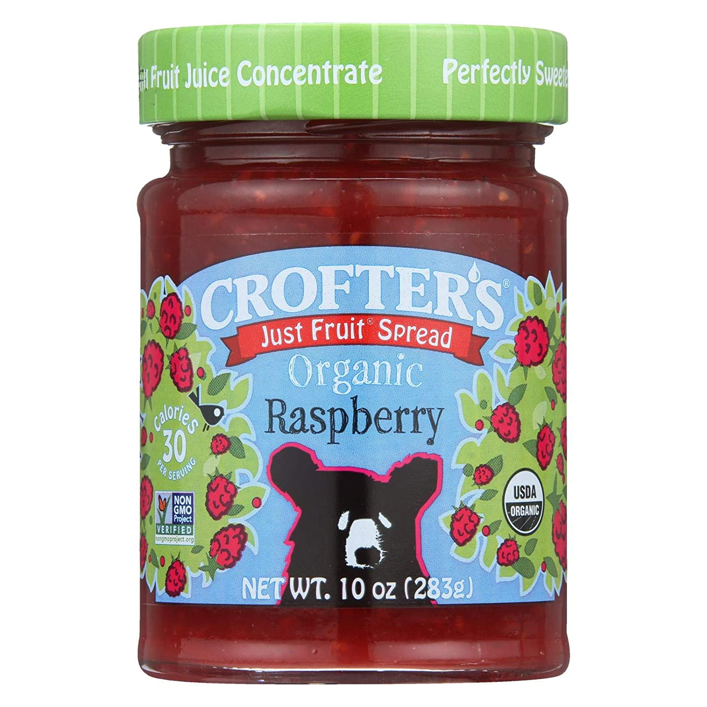 Crofters Organic Raspberry Fruit Spread, 10 Ounce -- 6 per case.