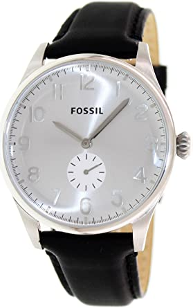 Fossil Mens FS4850 The Agent Analog Display Analog Quartz Black Watch