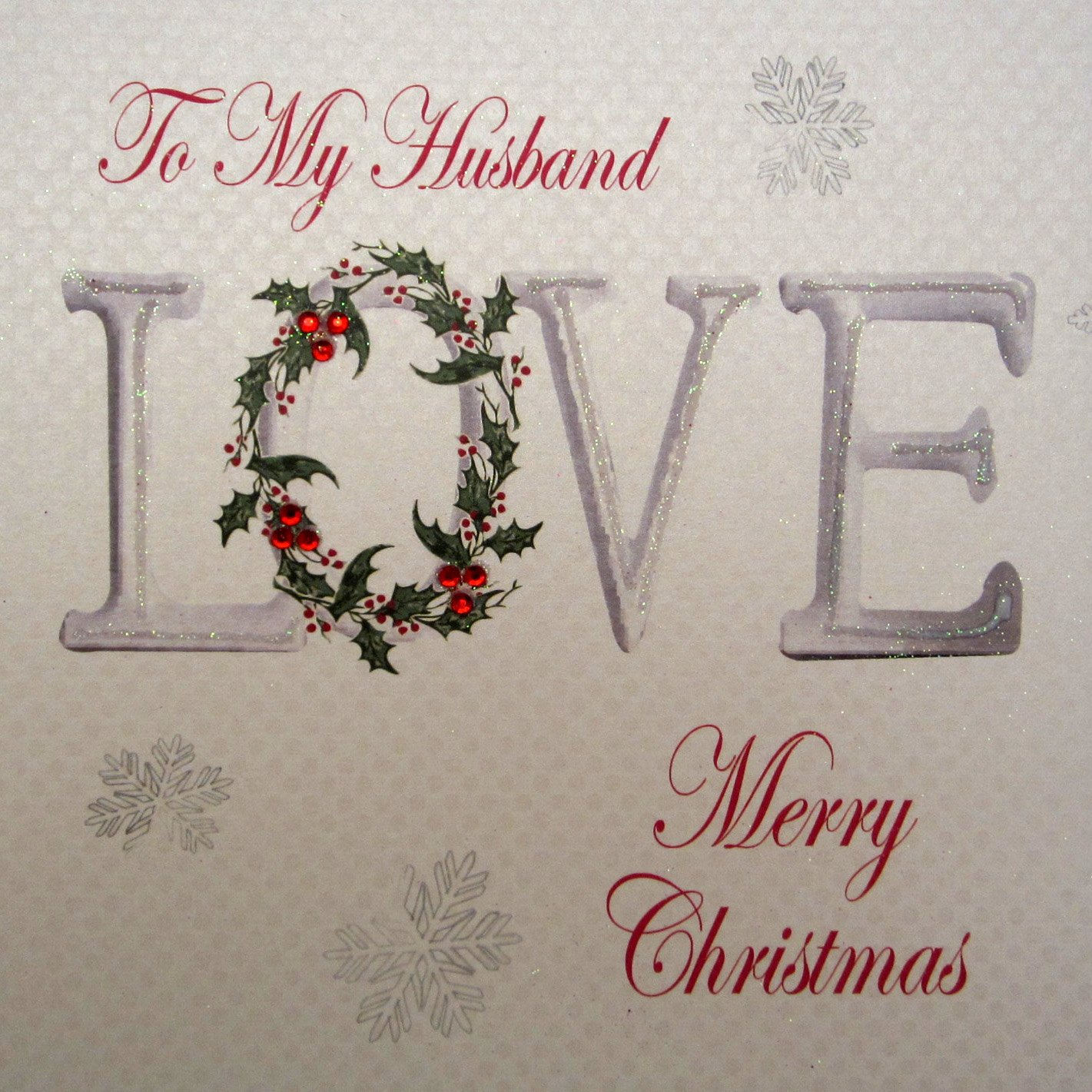Amazon.com: White Cotton Cards To My Husband Merry Christmas ...