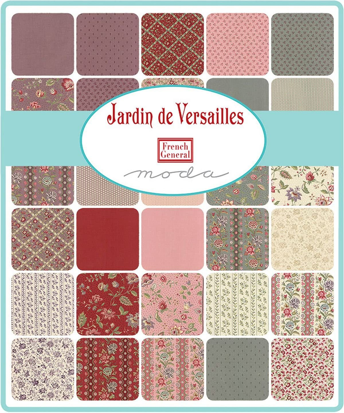 Jardin de Versailles Mini Charm Pack By French General; 110cm - 6.4cm Precut Fabric Quilt Squares: Amazon.es: Juguetes y juegos