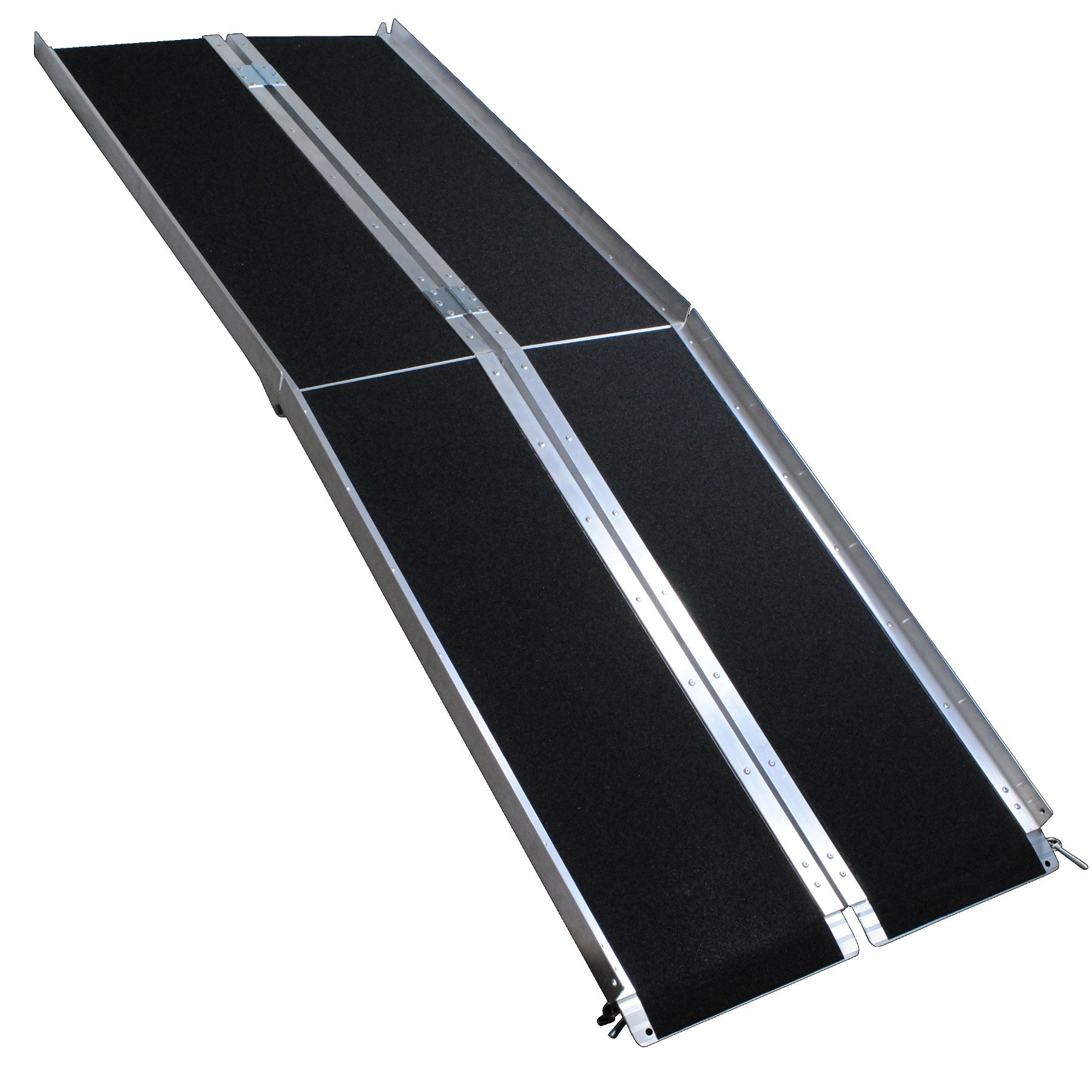 Big Horn Aluminum Multi-Fold Wheelchair Ramps | Porable & Compact | Temporary or Permanent Use | Perfect For Homes, Stairs, Trailers, Vans | 600 LBS Load Rating | 3 Year Warranty (7 Foot Length)