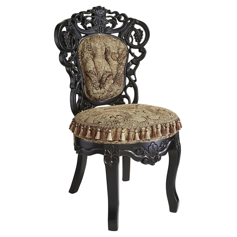 Amazon.com: Design Toscano Victorian Parlor Fabric Side Chair: Kitchen U0026  Dining