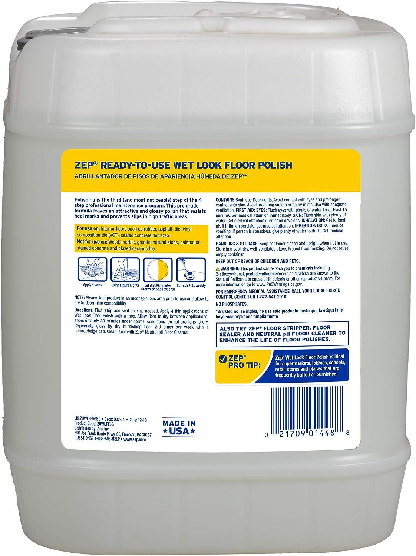 Amazon Com Zep Zuwlff5g Wet Look Floor Finish 5 Gals