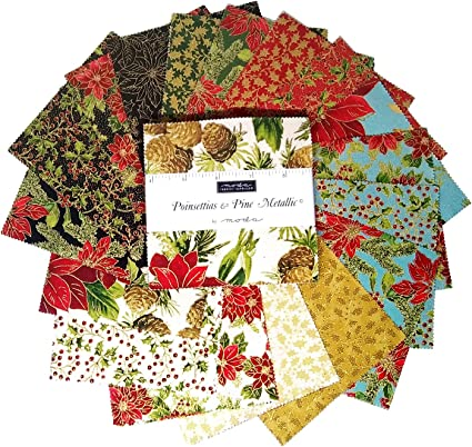 Moda Fabric Oh What Fun Charm Pack Patchwork Quilting 5 Inch Squares