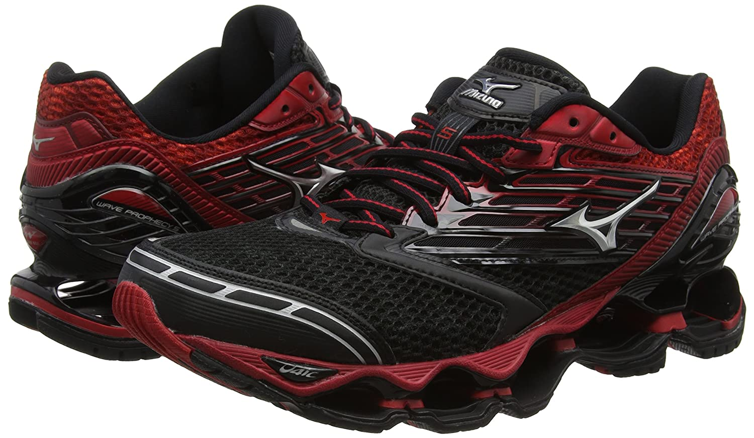 925f15f41d5f Mizuno Men's Wave Prophecy 5 Black Running Shoes-6 UK/India (39 EU)  (J1GC160003): Buy Online at Low Prices in India - Amazon.in