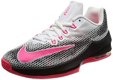 1d3cb0930a2 NIKE Boy s Air Max Infuriate (GS) Basketball Shoe White Racer Pink Black
