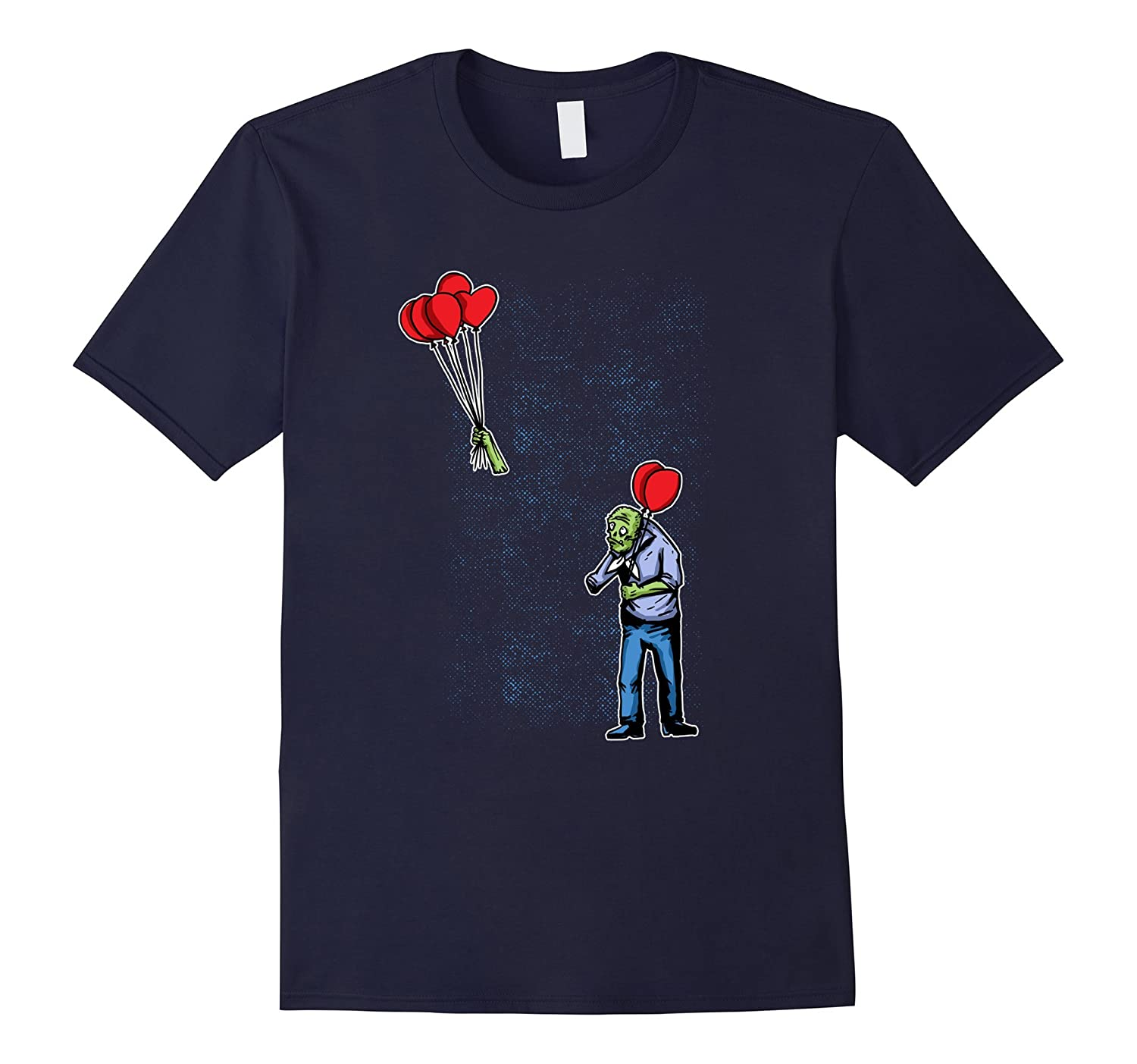 Zombie Red Balloon arm flys creepy Halloween Shirt-FL