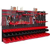 47 stapelboxen gereedschapshouder wandrek werkplaatsrek gereedschapswand 156 x 78 cm gereedschapshouder opslagsysteem…
