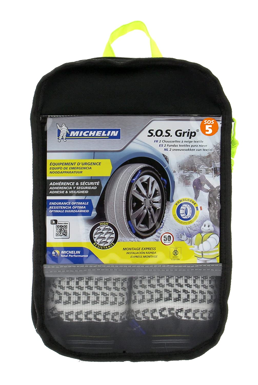 Cadenas de Nieve Textiles MICHELIN 008408 SOS8 Grip R/ápido y f/ácil de Instalar y Desmontar Otro