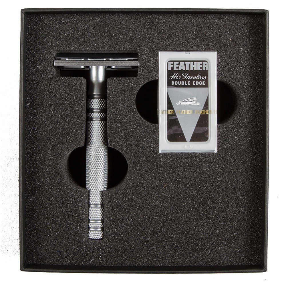 Feather All Stainless Steel Double-Edge Razor, Model AS-D2 by Feather
